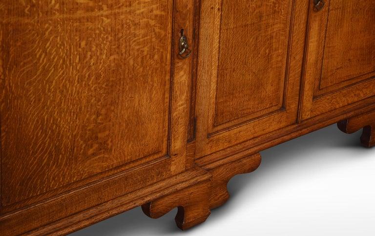 Large Oak Four Door Bookcase For Sale 2