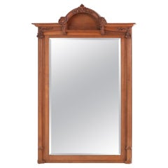 Large Oak French Art Nouveau Mirror Attributed to Jacques Gruber, 1904