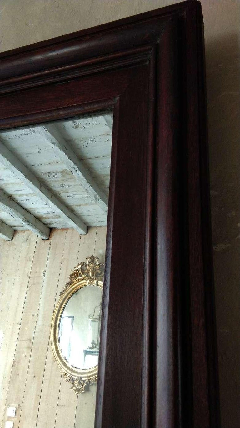 Large Oak Mirror, France, 19th Century For Sale 3