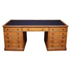 Large Oak Pedestal Desk