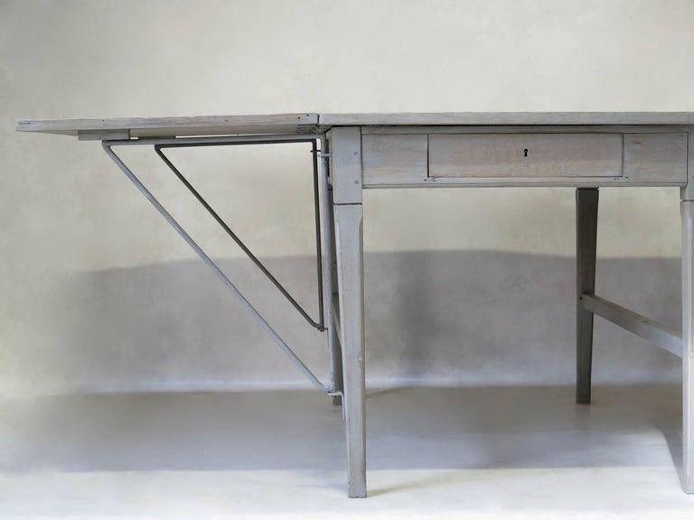 Large Oak Table with Drop Leaves, France, circa 1920s For Sale 5