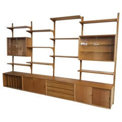 Large Oak Wall or Shelving Unit by Poul Cadovius for Cado, Danish Modern, 1964