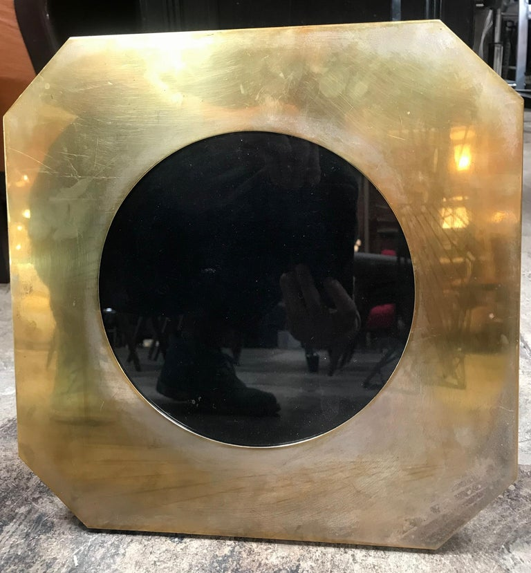 Italian Large Octagonal Brass Picture Frame, Italy, 1960s For Sale