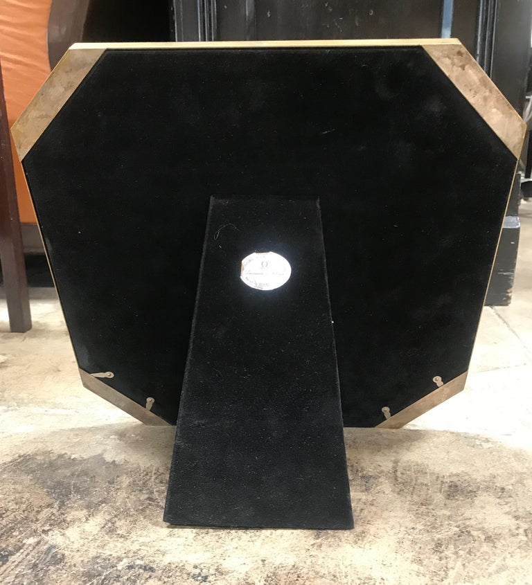 Large Octagonal Brass Picture Frame, Italy, 1960s For Sale 2