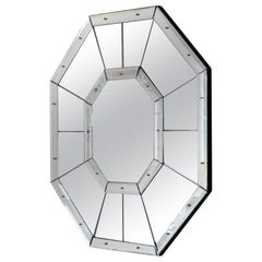 Large 'Octogone' Faceted Mirror by Design Frères