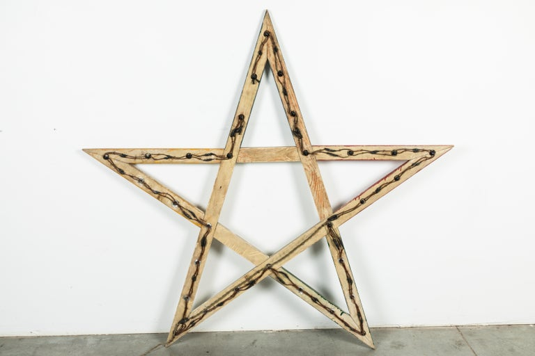 Large Odd Fellows Lodge Wood Star For Sale 3