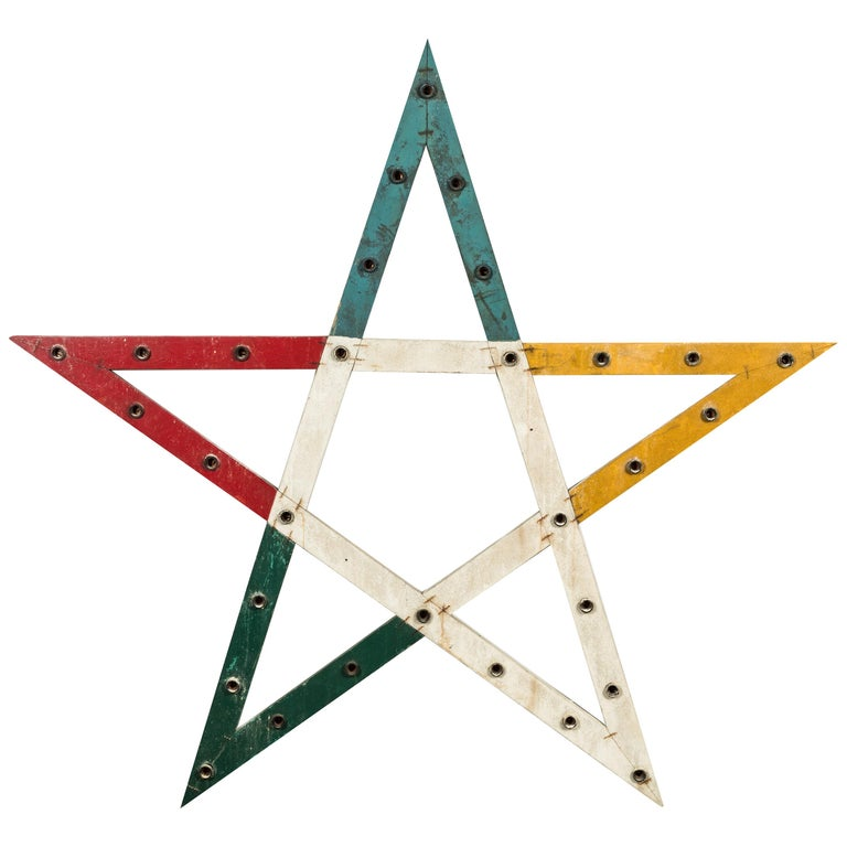 Large Odd Fellows Lodge Wood Star For Sale