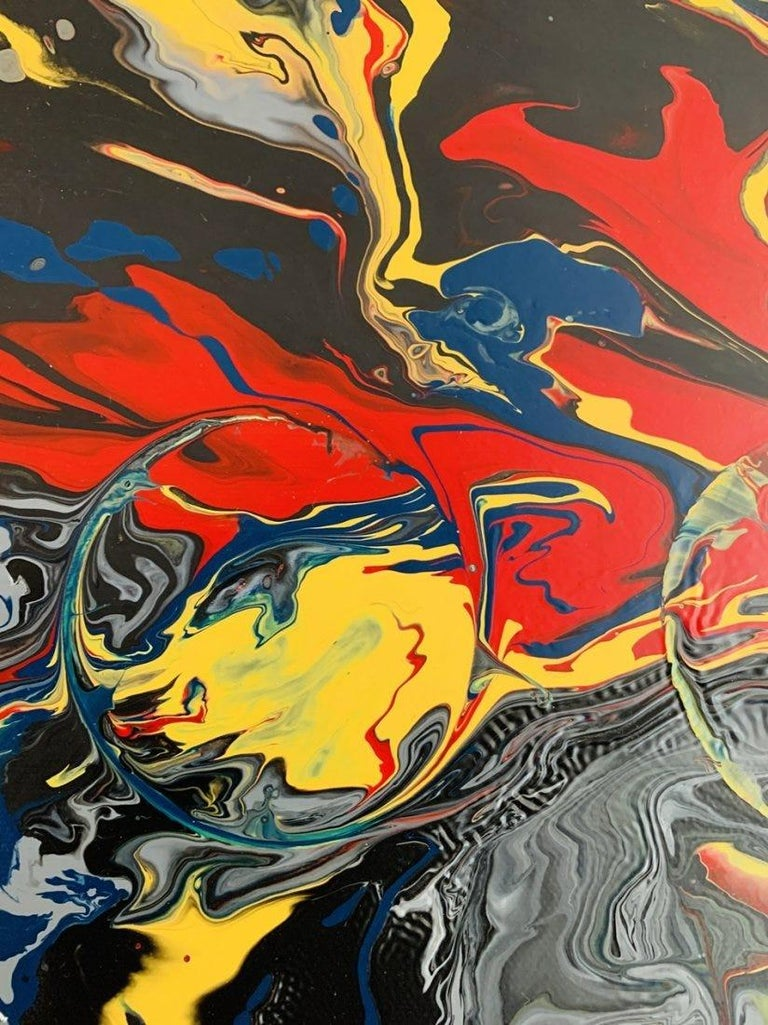 Large Oil & Enamel Painting by Dan R. Thornhill S-Dt2 For Sale 4