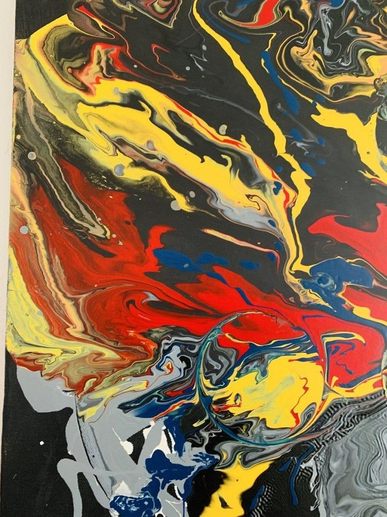 Large Oil & Enamel Painting by Dan R. Thornhill S-Dt2 For Sale 6