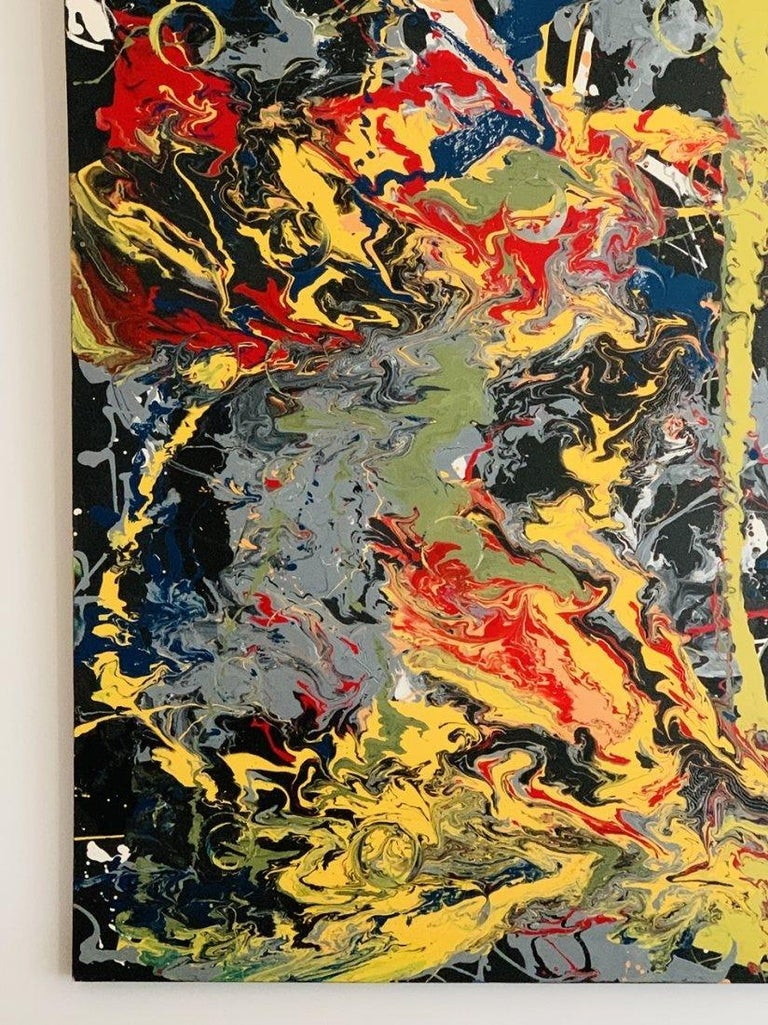 Contemporary Large Oil & Enamel Painting by Dan R. Thornhill S-Dt2 For Sale