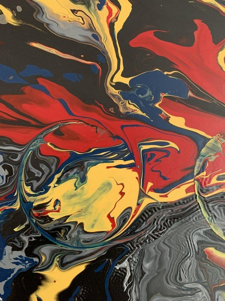 Large Oil & Enamel Painting by Dan R. Thornhill S-Dt2 For Sale 2