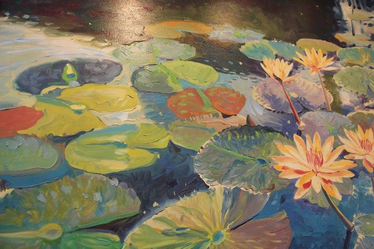 American Large Oil on Canvas Jan Kasprzycki