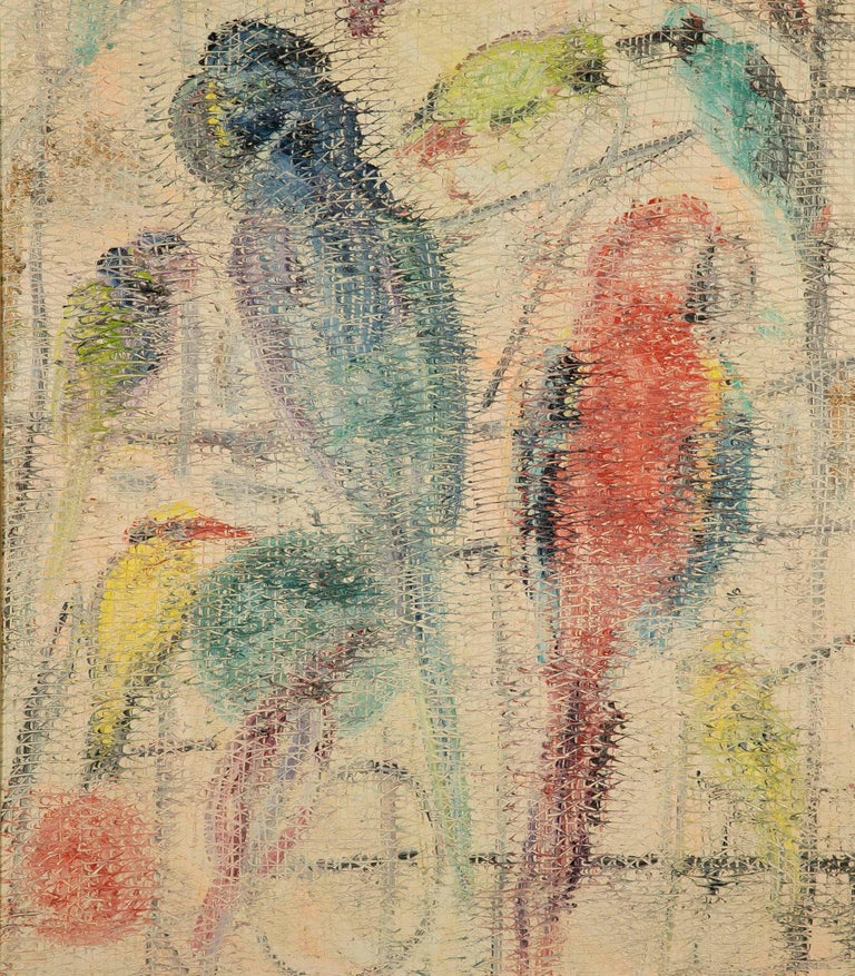 Oil on canvas by Hunt Slonem (American B. 1951), signed and dated on reverse.
