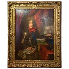 Large Oil on Canvas Portrait of Louis, Prince of Condé