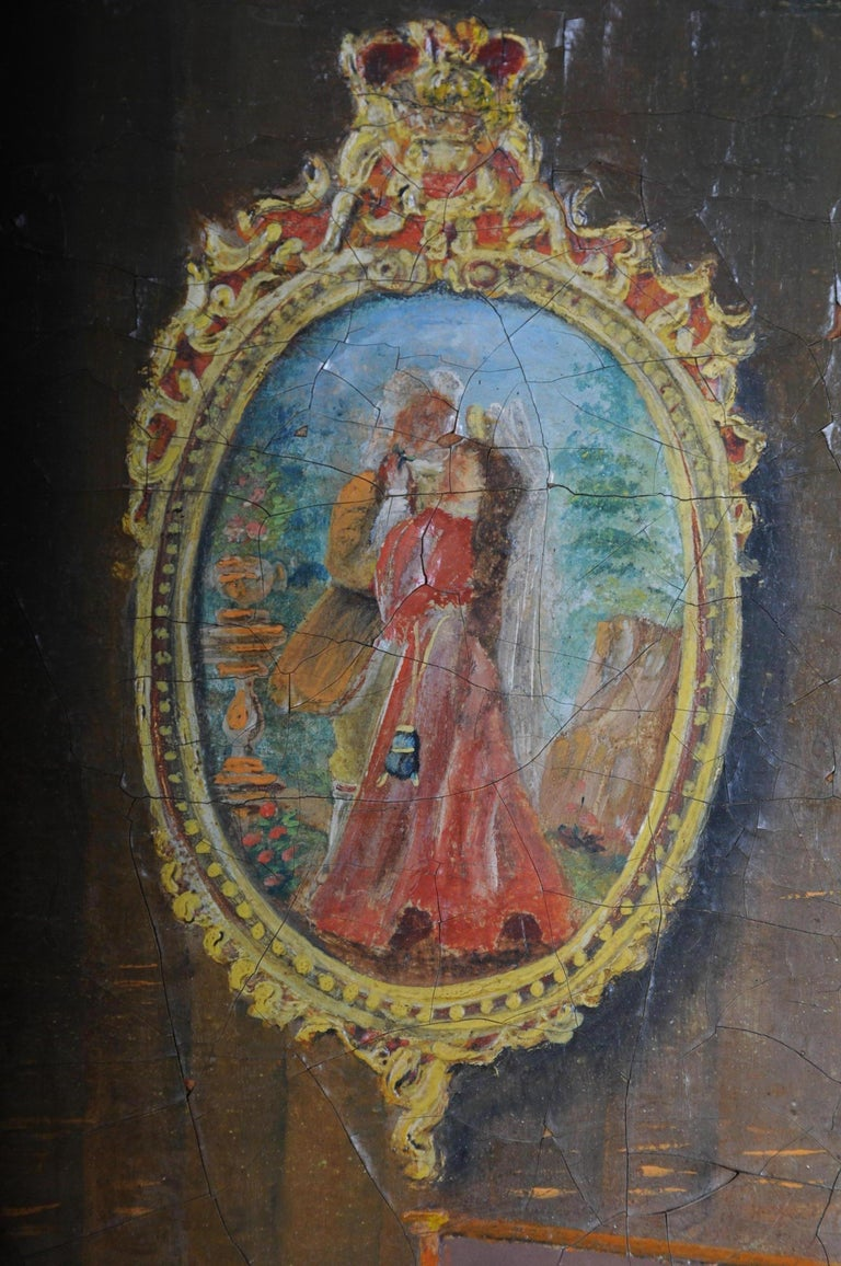 Large Oil on Canvas Rococo Painting, circa 1900 For Sale 6