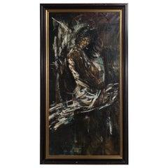 Large Oil Painting of Flamenco Dancer Maria Albaicin