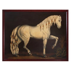 Large Oil Painting on Canvas of a Show Horse by Reginald Baxter