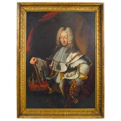 Large Oil Portrait of Victor-amédée King of Sardinia