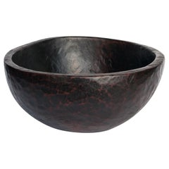 Large Old Tribal Wooden Bowl, West Nepal Himal, Mid-20th Century