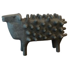 """Large One of a Kind Ceramic Sculpture """"Sheep"""" by BYL"""