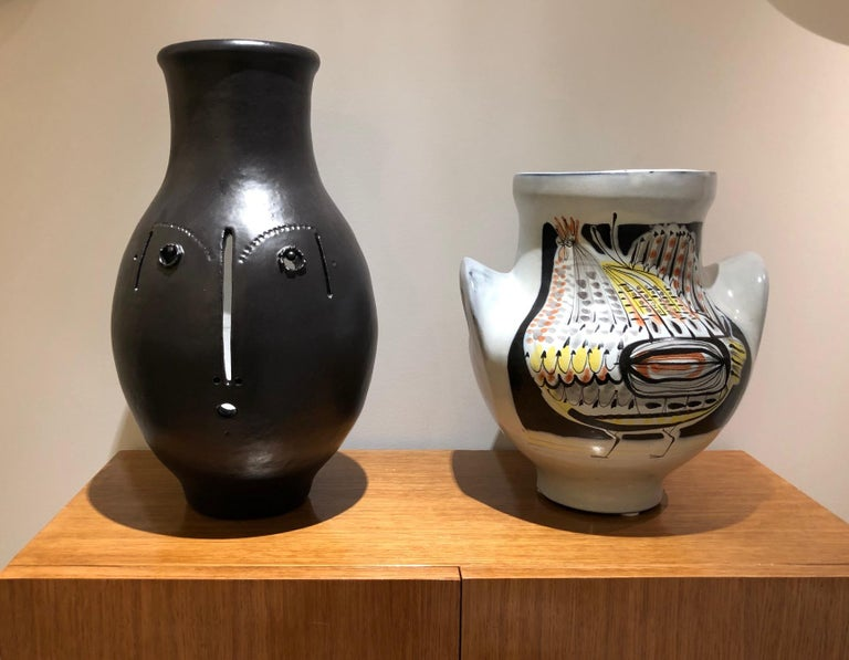 Large One of a Kind Ceramic Vase Signed by Dalo In Excellent Condition For Sale In Paris, FR