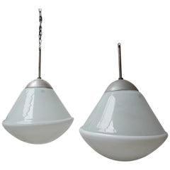 Large Opaline Bauhaus Pendant Lights by Kandem '2'