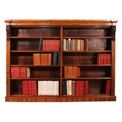 Large Open Bookcase in Rosewood, 19th Century, England