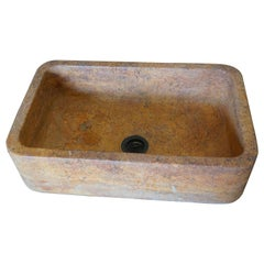 Large Orange Hued Limestone Sink