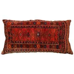 Large Orange Vintage Persian Tribal Pillow