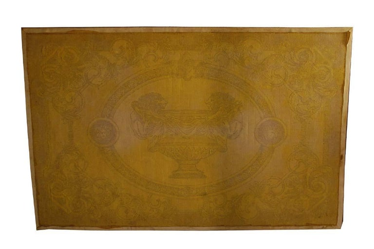Large Original 1980s Wool Carpet Made by Versace Atelier, Italy For Sale 2