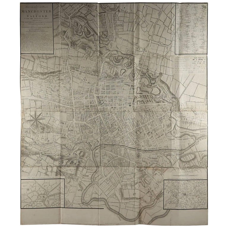 Superb map of Manchester and Salford