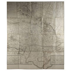 Large Original Antique Folding Map of Manchester, UK, Dated 1793
