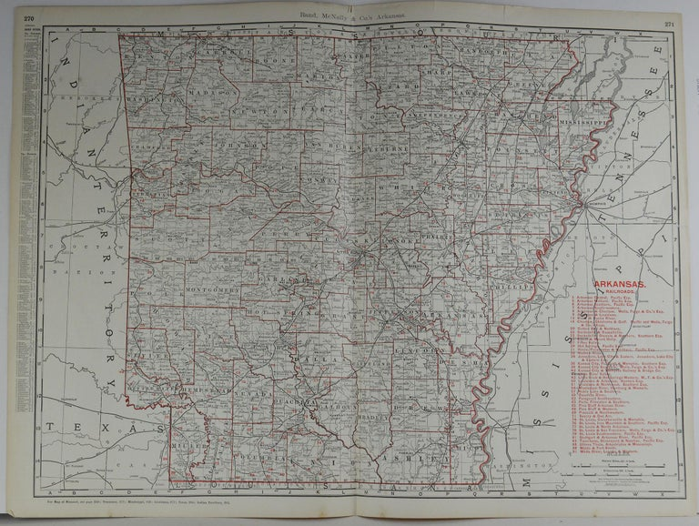 Fabulous monochrome map with red outline color 