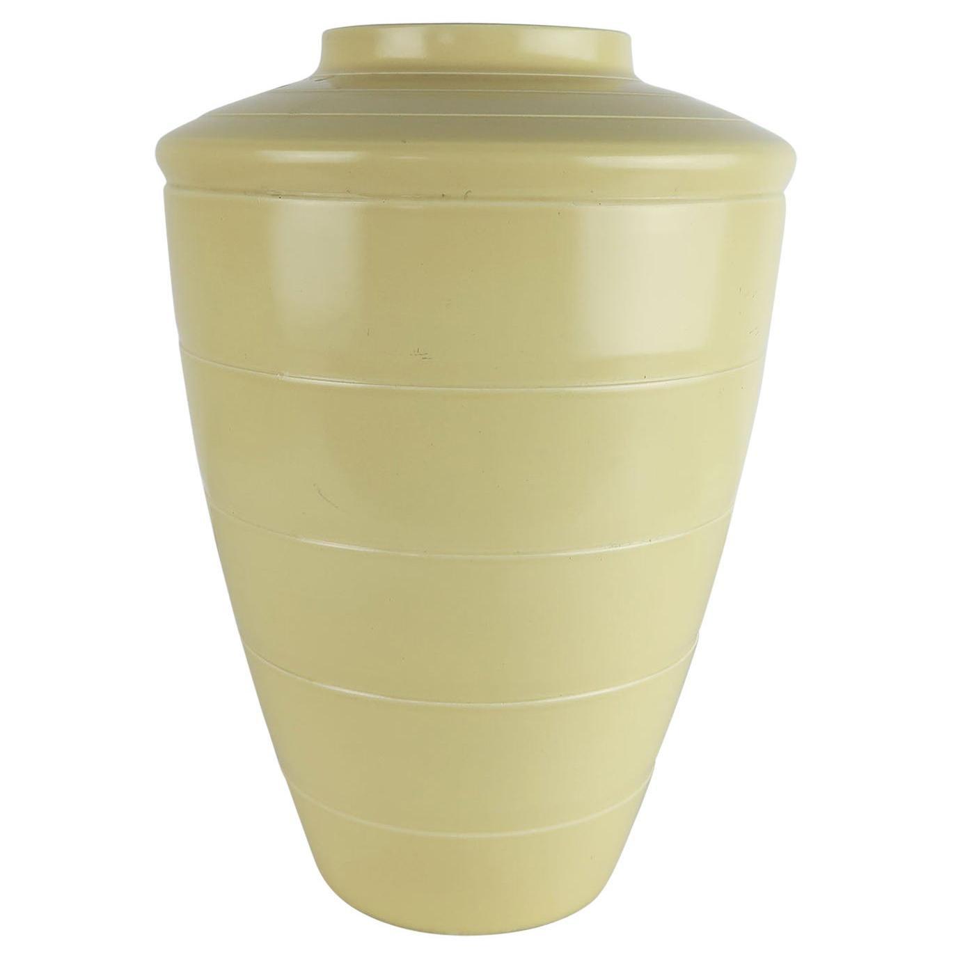 Large Original Art Deco Ceramic Vase by Keith Murray, C.1930