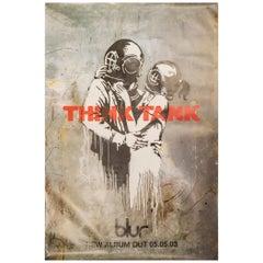 Large Original Banksy Poster-Blur-Think Tank