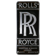 Large Original Cast Aluminium Rolls Royce Garage Wall Plaque
