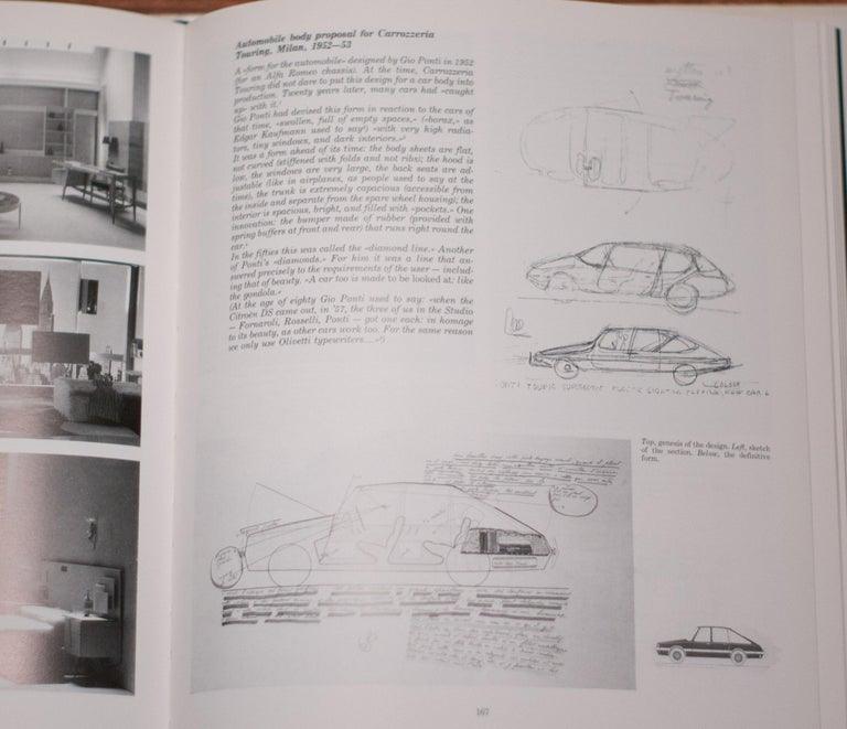 Large Original Drawing by Gio Ponti for Touring Carrozzeria, Milan, 1952 In Fair Condition For Sale In Dronten, NL