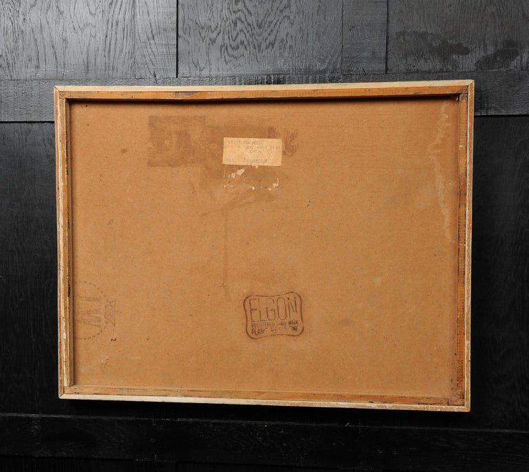 Large Original Midcentury Abstract Oil Painting by William Ernst Burwell, FRSA For Sale 2
