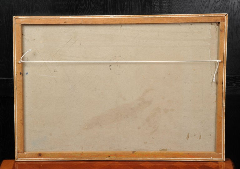 Mid-20th Century Large Original Midcentury Abstract Oil Painting by William Ernst Burwell, FRSA For Sale