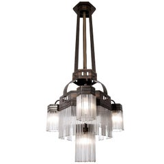 Large Original Multilayered Jugendstil Chandelier