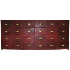 Large Original Painted Bank of Drawers/ chest of drawers