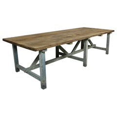 Large Original Painted Kitchen Dining Table
