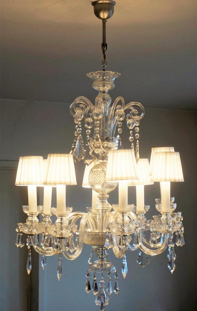 Italian Large Original Venetian Handcrafted Murano Crystal Chandelier, Italy, 1910-1920 For Sale