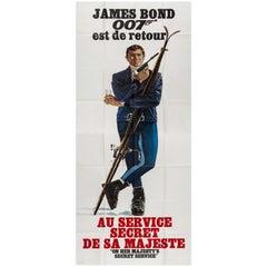 Large Original Vintage James Bond Movie Poster - On Her Majesty's Secret Service