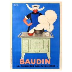 Large Original Vintage Poster By Cappiello Baudin La Cuisiniere Des Cuisinieres