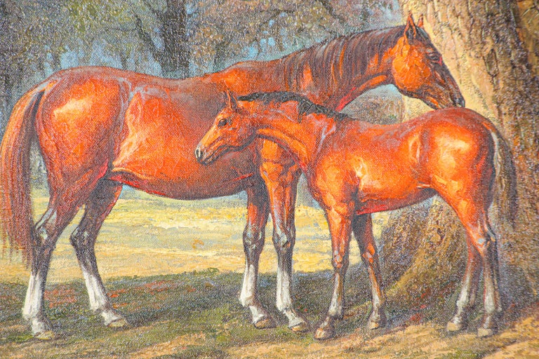 Canvas Large Original Wild Mustangs Horses Oil Painting For Sale