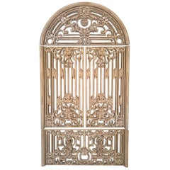Large Ornamental 4 Piece Faux Metal Gate Wall Hanging