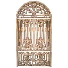 Large Ornamental 4-Piece Faux Metal Gate Wall Hanging