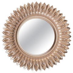 "Frame ""Sun"" in the Neoclassical style, Large Ornate Carved Wood Wall Mirror"