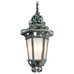 Large Ornate Verdigris Estate Lantern